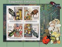Guinea - Bissau 2008 - Mushrooms & Insects 4v Y&T 2590-2593, Michel 3859-3862 - Guinea-Bissau