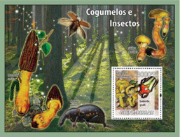 Guinea - Bissau 2008 - Mushrooms & Insects S/s Y&T 410, Michel 3863/BL658 - Guinea-Bissau