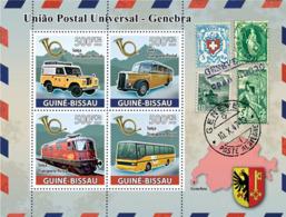 Guinea - Bissau 2008 - UPU, Transports Of Post (car, Train) 4v Y&T 2638-2641, Michel 3879-3882 - Guinea-Bissau