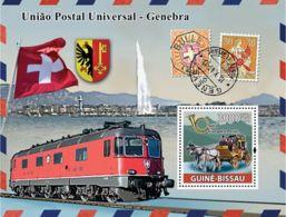 Guinea - Bissau 2008 - UPU, Transports Of Post (car, Train) S/s Y&T 422, Michel 3883/BL662 - Guinea-Bissau
