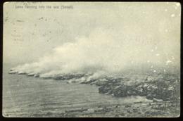 Postcard - Samoa, Oceania - Lava Running Into The Sea Savai'i - C.1905 - Samoa Americana