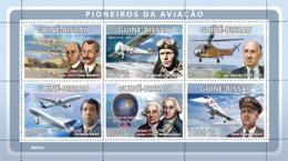 Guinea - Bissau 2008 - Pioneers Of Aviations (W.&O.Wrights, C.Lindberg, I.Sikorsky) 6v Y&T 2650-2655, Michel 3923-3928 - Guinea-Bissau