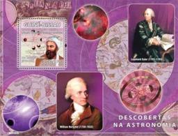 Guinea - Bissau 2008 - Descriptors Of Astronomy (A.Ryhan Al Birumi, L.Euler, W.Herschel) S/s Y&T 425, Michel 3936/BL671 - Guinea-Bissau