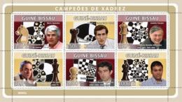 Guinea - Bissau 2008 - Chess Champions (B.Spassky, R.J.Fischer, A.Karpov, Etc) 6v Y&T 2662-2667, Michel 3937/3942 - Guinea-Bissau