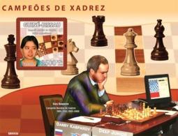 Guinea - Bissau 2008 - Chess Champions (Xu Yuhua, G. Kasparov, Deep Junior) S/s Y&T 426, Michel 3943/BL672 - Guinea-Bissau