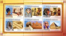 Guinea - Bissau 2008 - Civilization Of Egypt 6v Y&T 2668-2672, Michel 3944-3949 - Guinea-Bissau