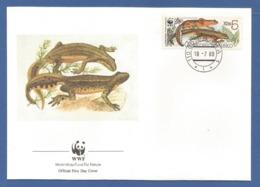 Ceskoslovensko  1989 , Carpathian Newt  ( Karpatenmolch) - WWF Official First Day Cover - PRAHA 18-7-1989 - Tschechoslowakei/CSSR