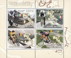Guinea - Bissau 2009 - Cycling In Italy (M.Cipollini, F.Moser, E.Merckx ) 4v Y&T 2822-2825, Michel 4086-4089 - Guinea-Bissau