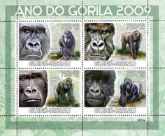 Guinea - Bissau 2009 - 2009 Year Of Gorilla 4v Y&T 2849-2852, Michel 4178-4181 - Guinea-Bissau