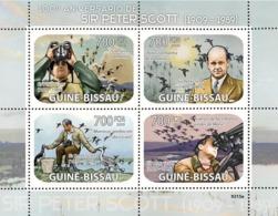 Guinea - Bissau 2009 - Sir Peter Scott (1909-1989), Birds 4v Y&T 2857-2860, Michel 4153-4156 - Guinée-Bissau