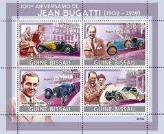 Guinea - Bissau 2009 - Jean Bugatti (1909-1939), Cars 4v Y&T 2853-2856, Michel 4168-4171 - Guinea-Bissau
