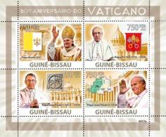 Guinea - Bissau 2009 - Vatican 80 (Popes) 4v Y&T 2865-2868, Michel 4173-4176 - Guinea-Bissau