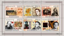 Guinea - Bissau 2009 - Greatest Painters (L.da Vinci, V.van Gogh, Rembrandt, Etc.) 6v Y&T 2910-2915, Michel 4197-4202 - Guinea-Bissau