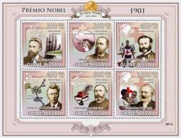 Guinea - Bissau 2009 - Nobel Prize 1901 (W.Rontgen, J.H.van't Hoff, S.Prudhomme..) 6v Y&T 2942-2947, Michel 4224-4229 - Guinea-Bissau
