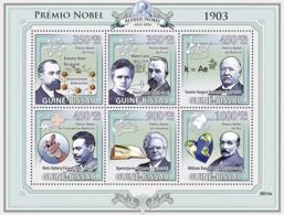 Guinea - Bissau 2009 - Nobel Prize 1903 (A.H.Becquerel, M.&P.Curie, S.A.Arrchenius..) 6v Y&T 2954-2959, Michel 4230-4235 - Guinée-Bissau