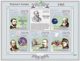 Guinea - Bissau 2009 - Nobel Prize 1905 (P.Lenard, A.von Baeyer, R.Koch, H.Sienkiewi) 5v Y&T 2965-2996, Michel 4253-4257 - Guinea-Bissau
