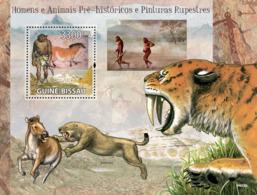 Guinea - Bissau 2009 - Prehistoric Man, Animals & Cave Paintings S/s Y&T 456, Michel 4366/BL708 - Guinée-Bissau