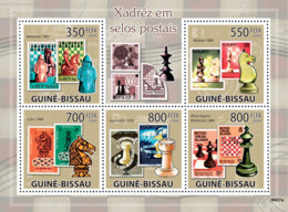 Guinea - Bissau 2009 - Chess On Stamps 5v Y&T 3006-3010, Michel 4279-4283 - Guinea-Bissau