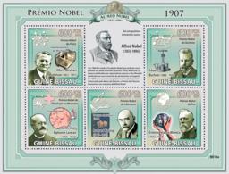 Guinea - Bissau 2009 - Nobel Prize 1907 (A.A.Michelson, E.Buchner, R.Kipling..) 5v Y&T 3021-3025, Michel 4333-4337 - Guinea-Bissau