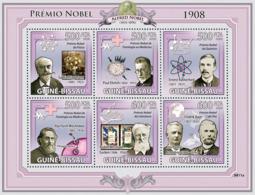 Guinea - Bissau 2009 - Nobel Prize 1908 (G.Lippmann, P.Ehrlich, E.Rutherford, Etc) 6v Y&T 3026-3031, Michel 4321-4326 - Guinée-Bissau