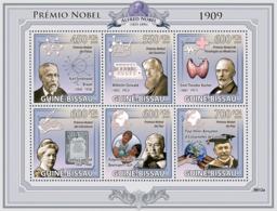 Guinea - Bissau 2009 - Nobel Prize 1909 (K.F.Braun, W.Ostwald, E.T.Kocher, Etc) 6v Y&T 3032-3037, Michel 4309-4314 - Guinée-Bissau