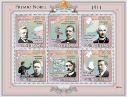 Guinea - Bissau 2009 - Nobel Prize 1911 (W.Wien, A.Gullstrand, T.Michael, M.Curie..) 6v Y&T 3043-3048, Michel 4315-4320 - Guinea-Bissau
