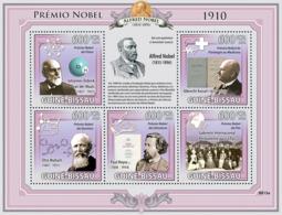 Guinea - Bissau 2009 - Nobel Prize 1910 (J.D.Waals, A.Kossel, O.Wallach, P.Heyese..) 5v Y&T 3038-3042, Michel 4338-4342 - Guinée-Bissau