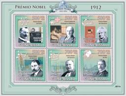 Guinea - Bissau 2009 - Nobel Prize 1912 (G.Dalen, A.Carrel, G.Hauptmann, E.Root..) 6v Y&T 3049-3054, Michel 4327-4332 - Guinea-Bissau