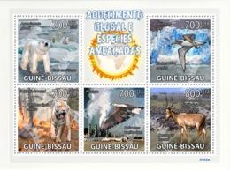Guinea - Bissau 2009 - Global Warming & Endangered Animals 5v Y&T 3065-3069, Michel 4420-4420 - Guinea-Bissau