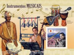Guinea - Bissau 2009 - Musical Instruments S/s Y&T 476, Michel 4378/BL711 - Guinea-Bissau