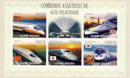 Guinea - Bissau 2009 - Asian Hight Speed Trains 5v Y&T 3105-3109, Michel 4379-4383 - Guinea-Bissau