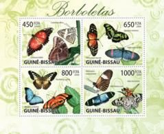 Guinea - Bissau 2009 - Butterflies 4v Y&T 3115-3118, Michel 4504-4507 - Guinea-Bissau