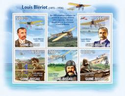 Guinea - Bissau 2009 - Luis Bleriot (1872-1936) & Planes 5v Y&T 3134-3138, Michel 4509-4513 - Guinea-Bissau