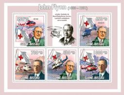 Guinea - Bissau 2009 - John Flynn (1880-1951), Helicopters & Red Cross 5v Y&T 3139-3143, Michel 4515-4519 - Guinea-Bissau