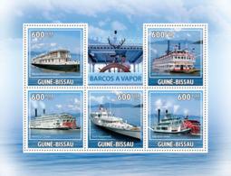 Guinea - Bissau 2009 - Steamboats 5v Y&T 3179-3183, Michel 4521-4525 - Guinea-Bissau
