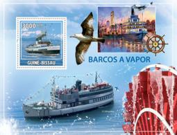 Guinea - Bissau 2009 - Steamboats S/s Y&T 495, Michel 4526/BL738 - Guinea-Bissau