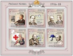 Guinea - Bissau 2009 - Nobel Prize 1916-1918 6v Y&T 3201-3206, Michel 4532-4537 - Guinea-Bissau