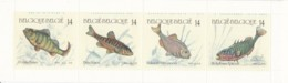 1990, Belgien, 2435/38 MH 31,  MNH **,  Fische. - Belgio
