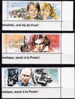 1990, Belgien, 2439/41,  MNH **, Kultur: - Belgique
