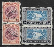 1952 WESTERN SAMOA USED/UNUSED STAMPS (Michel # 97A,100C) - Samoa (Staat)