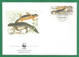 Ceskoslovensko  1989 , Alpine Newt (Der Bergmolch) - WWF Official First Day Cover - PRAHA 18-7-1989 - Tschechoslowakei/CSSR