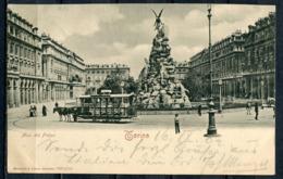 "CPA S/w AK Italien Torino,Turin 1902 ""Torino-Mon. Del Frejus,belebt,Horse Tramp ""1 AK Used - Piazze"
