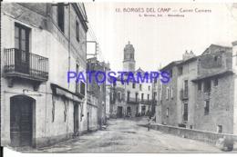 120276 SPAIN ESPAÑA BORGES DEL CAMP TARRAGONA STREET CALLE COMERS CUT POSTAL POSTCARD - Spanien