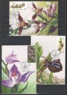 UKRAINE 2015 Mi 1518MK-1520MK National Botanical Gardens Ukraine. Orchids / Maximum Card / MC - Orchids