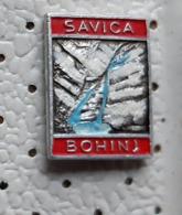 Waterfall SAVICA Bohinj Alpinism, Mountaineering Slovenia Pin - Alpinismus, Bergsteigen