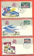 ESPOSITION UNIVERSELLE DE BRUXELLES 1958 - SERIE COMPLETA DELLE 6 BUSTE - Belgio