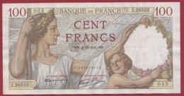 """100 Francs """"Sully"""" Du 04/12/1941.GN ---F/TTB+---ALPH.Z.26533 - 1871-1952 Anciens Francs Circulés Au XXème"""