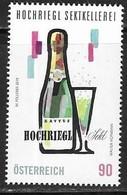 AUSTRIA, 2019, MNH, HOCHRIEGEL SEKTKELLEREI, SPARKLING WINE, 1v - Wines & Alcohols