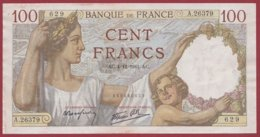 """100 Francs """"Sully"""" Du 04/12/1941.AC --F/TTB+---ALPH.A.26379--AUCUN TROU D EPINGLE - 1871-1952 Anciens Francs Circulés Au XXème"""