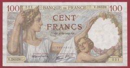 """100 Francs """"Sully"""" Du 04/12/1941.GF --F/TTB+---ALPH.V.26526--AUCUN TROU D EPINGLE - 1871-1952 Anciens Francs Circulés Au XXème"""
